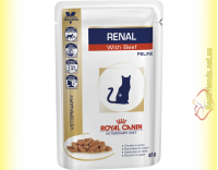 Купить Royal Canin Renal Feline with Beef 85гр