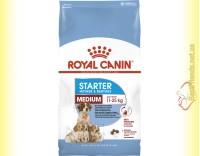 Купить Royal Canin Medium Starter корм для сук Середніх порід в період лактації і цуценят до 2-х місяців