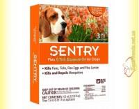 Купить SENTRY капли от блох, клещей и комаров для собак весом 7-15кг
