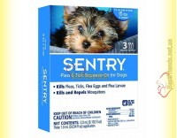 Купить SENTRY Капли от блох, клещей и комаров для собак весом до 7кг