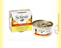 Купить Schesir Chicken Pineapple консервы для кошек 75гр
