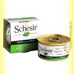Schesir Tuna Chicken консервы для кошек 85гр