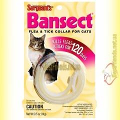 Sergeants Bansect ошейник от блох и клещей для кошек 35см