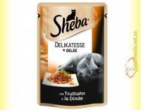 Купить Sheba Delikatesse in Gelle с Индейкой в желе 85гр