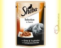 Купить Sheba Selection in Sauce с Уткой и Индейкой в соусе 85гр