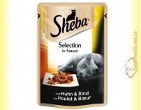 Купить Sheba Selection in Sauce с Говядиной в соусе 85гр