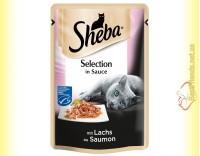 Купить Sheba Selection in Sauce с Лососем в соусе 85гр