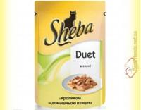 Купить Sheba Duet с кроликом и домашней птицей в соусе 85гр