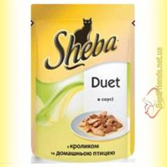 Sheba Duet с кроликом и домашней птицей в соусе 85гр