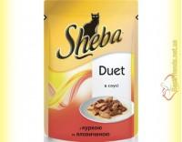 Купить Sheba Duet с курицей и говядиной в соусе 85гр