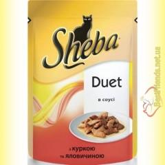 Sheba Duet с курицей и говядиной в соусе 85гр