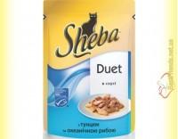 Купить Sheba Duet с тунцом и океанической рыбой в соусе 85гр