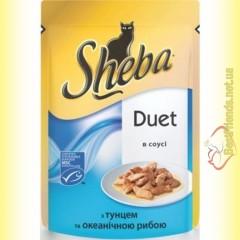 Sheba Duet с тунцом и океанической рыбой в соусе 85гр