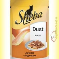 Sheba Duet с уткой и индейкой в соусе 85гр