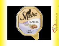 Купить Sheba паштет с телятиной и курицей 85гр