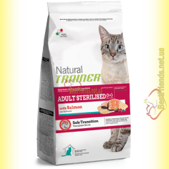 Trainer Natural Adult Sterilised with Salmon 1,5кг