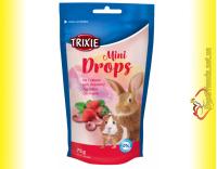 Купить Trixie Mini Drops Дропсы для грызунов, клубника 75гр