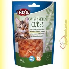 Trixie Premio Cheese Chicken Cubes Лакомство для кошек кубики - курица и сыр 50гр