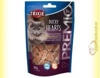 Купить Trixie Premio Ducky Hearts Лакомство для кошек сердечки - утка и сайда 50гр