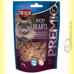 Trixie Premio Ducky Hearts Лакомство для кошек сердечки - утка и сайда 50гр