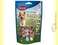 Купить Trixie Premio Fish Chicken Rolls Лакомство для собак с цыплёнком и сайдой 75гр