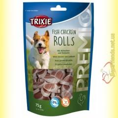 Trixie Premio Fish Chicken Rolls Лакомство для собак с цыплёнком и сайдой 75гр