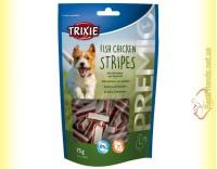 Купить Trixie Premio Fish Chicken Stripes Лакомство для собак с цыплёнком и сайдой 75гр