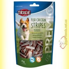 Trixie Premio Fish Chicken Stripes Лакомство для собак с цыплёнком и сайдой 75гр