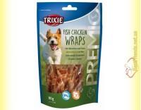 Купить Trixie Premio Fish Chicken Wraps Лакомство для собак с мясом птицы и рыбой 80гр