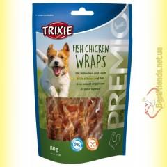 Trixie Premio Fish Chicken Wraps Лакомство для собак с мясом птицы и рыбой 80гр