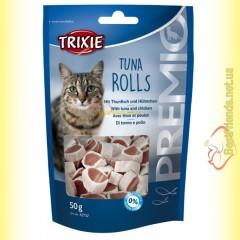 Trixie Premio Tuna Rolls Лакомство для кошек с тунцом и мясом птицы 50гр