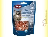 Купить Trixie Premio Tuna Sandwiches Лакомство для кошек с тунцом и мясом птицы 50гр