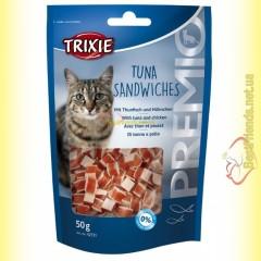 Trixie Premio Tuna Sandwiches Лакомство для кошек с тунцом и мясом птицы 50гр