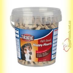 Trixie Soft Snack Happy Hearts Лакомство для собак - ягнёнок и рис 500гр