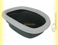 Купить Trixie Carlo 1 туалет для кошки с рамкой серый