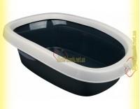 Купить Trixie Carlo 2 туалет для кошки с рамкой серый