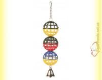 Купить Trixie Игрушка для птиц 3 пластиковых шарика с колокольчиком