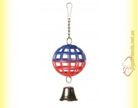 Купить Trixie Игрушка для птиц Пластиковый шарик с колокольчиком