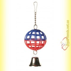 Trixie Игрушка для птиц Пластиковый шарик с колокольчиком