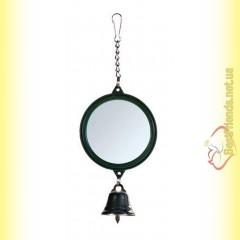Trixie Игрушка для птиц Зеркало с колокольчиком 5,5см