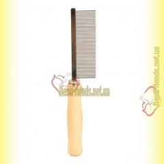 Trixie Расчёска с частым зубом 17см, с деревяной ручкой