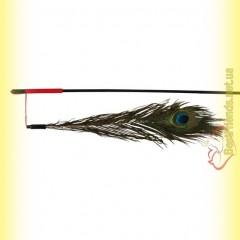 Trixie Удочка с пером павлина 47см