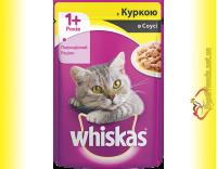 Купить Whiskas 1+ с Курицей в соусе, пауч 100гр