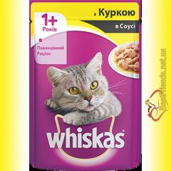 Whiskas 1+ с Курицей в соусе, пауч 100гр