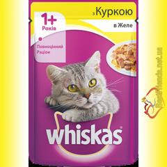 Whiskas 1+ с Курицей в желе, пауч 100гр