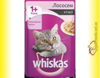 Купить Whiskas 1+ с Лососем в соусе, пауч 100гр