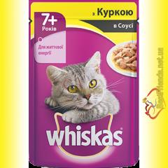 Whiskas 7+ с Курицей в соусе, пауч 100гр