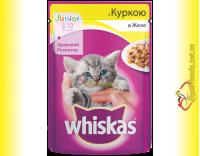 Купить Whiskas Junior с Курицей в желе, пауч 100гр