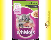 Купить Whiskas Junior с Ягненком в соусе, пауч 100гр