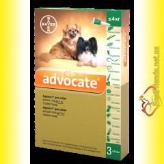 Advocate Капли для собак весом до 4кг